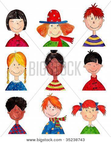 Children. Cartoon characters