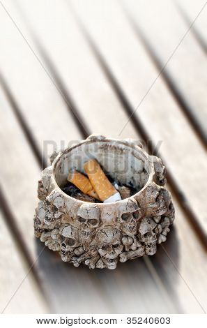 Ashtray and cigarette ends