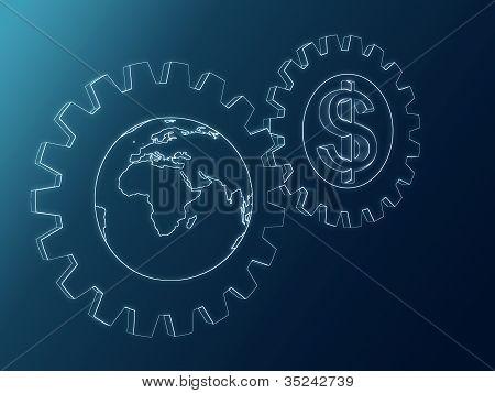 Dollar And Globe