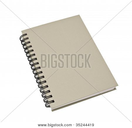Stack Of Ring Binder Book Or Green Notebook