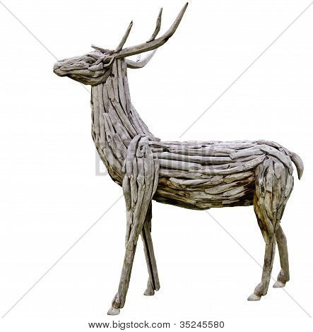 Deer Made From Wood