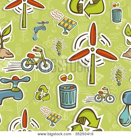 Go Green Icon Set Pattern