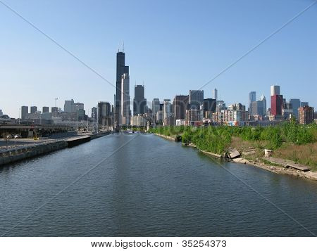Chicago skyline in America
