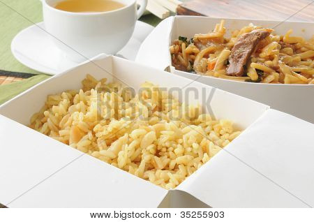 Chinese Food In Take Out Containers