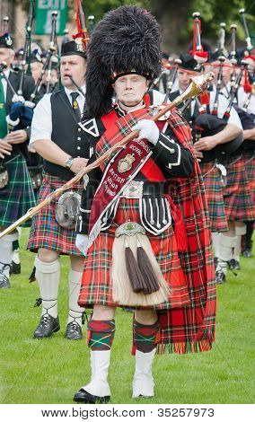 Scottish pipe band leader