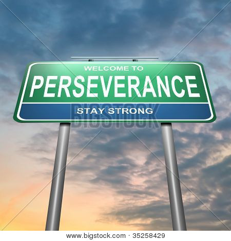 Perseverance Concept.