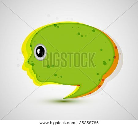 Vector Abstract Background. Creative Face. Eps 10