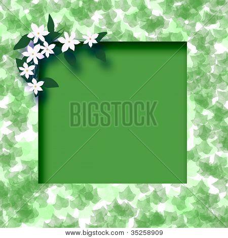 green leafy frame