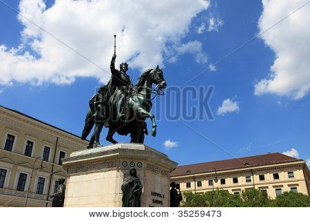 Statue King Ludwig 1 of Bavaria in Munich