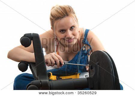 Home Repairs - Chair Repair Screwdriving