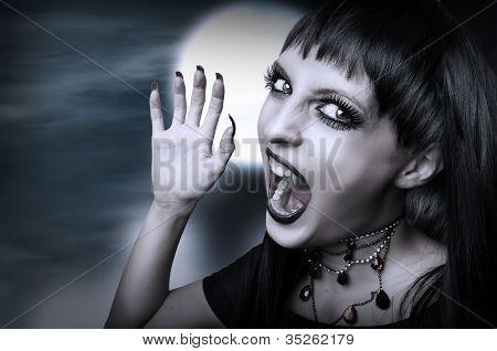 Vampire Gothic Style For Halloween.