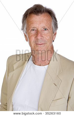 Handsome Senior Male Against White