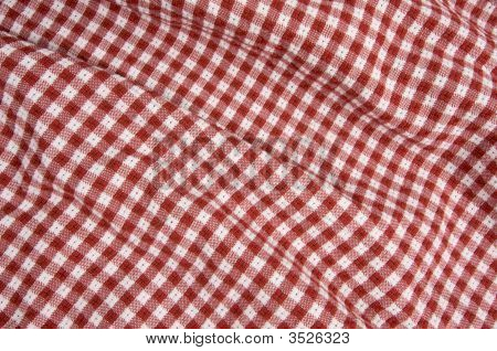 Red And White Gingham  Picnic Blanket