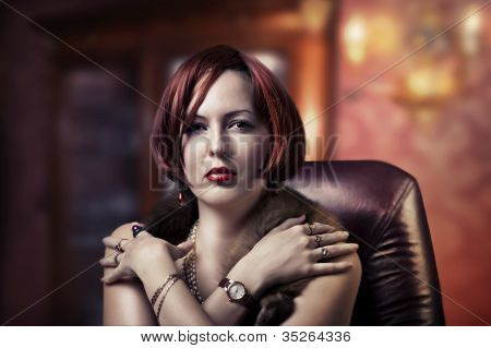 Luxury Portrait Of Fashion Woman