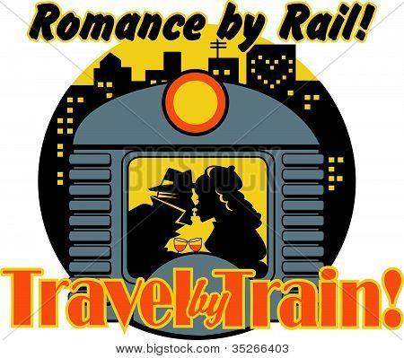 Comboio ou carro de metrô em sinal de cidade