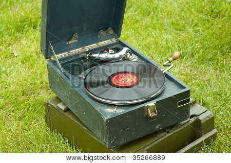 Russian Soviet Red Army Gramophone