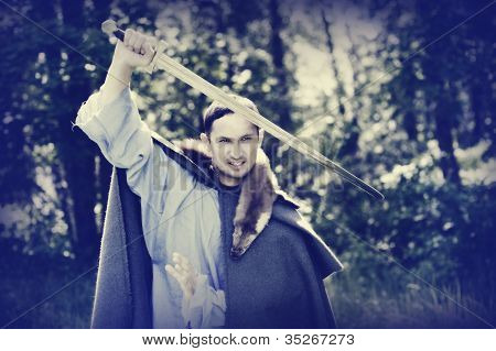 Man With Medieval Sword