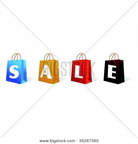 Verkauf Zeichen Tasche Vektor-illustration