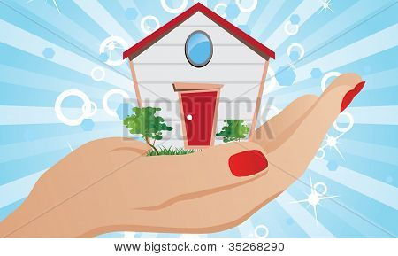 House on the palm of your hand
