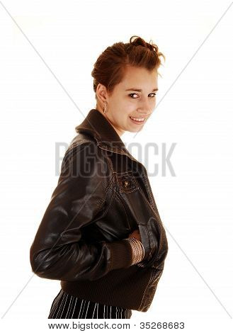 Profile Portrait Of Girl.
