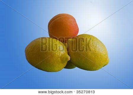 Lemon Pyramid with Apricot