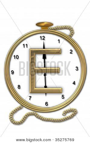 Relógio de bolso do alfabeto E