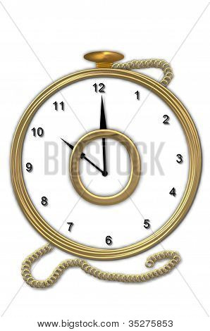 Alphabet Pocket Watch O
