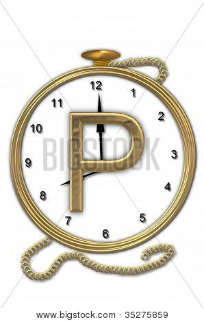 Alphabet Pocket Watch P