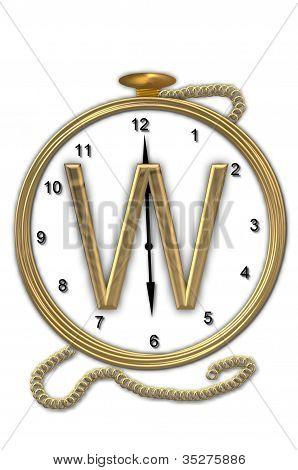 Alphabet Pocket Watch W