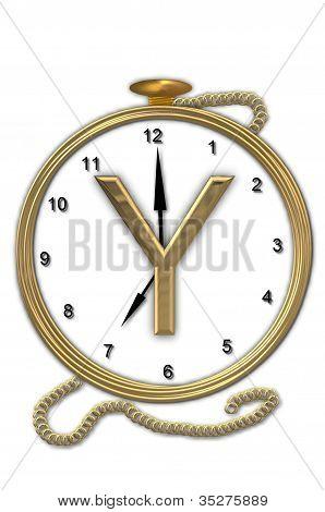 Alphabet Pocket Watch Y