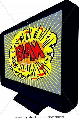 Lcd Plasma Tv Television Blam