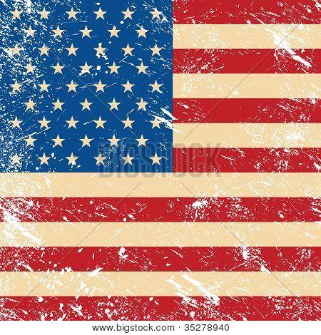 USA vintage grunge flag