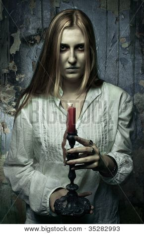 Phantom Girl With Candle