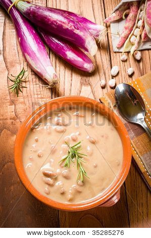 Pinto Beans Soup - Zuppa Di Fagioli Borlotti