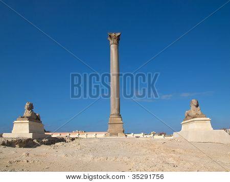 Pompey`s Pillar in Aleksandria