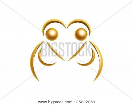 Golden Cheerleaders Symbol