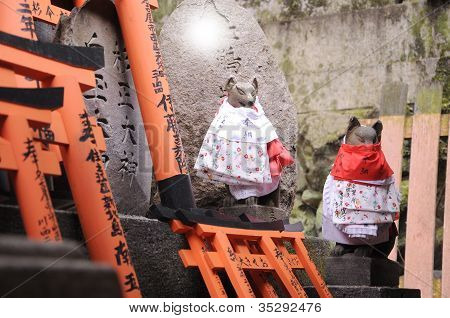 Japanese Fox Deity Of Wealth