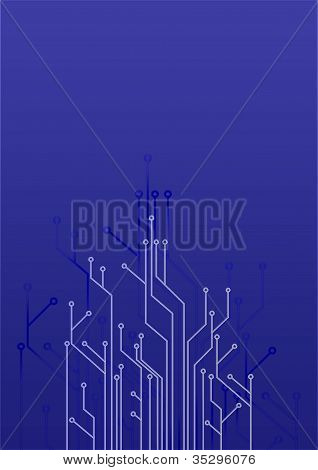 abstract set of printing conductors
