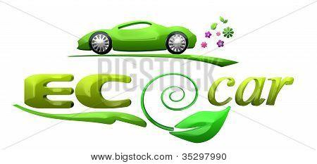 Eco car symbol