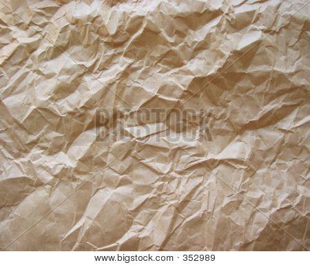 Crumpled Paper Brown