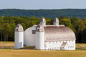 Huge White Barn