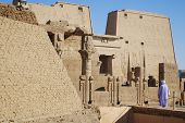 pic of aswan dam  - Details of Philae temple Egypt. The complex was dismantled and relocated to nearby Agilkia Island during a UNESCO project started because of the construction of the Aswan Dam.