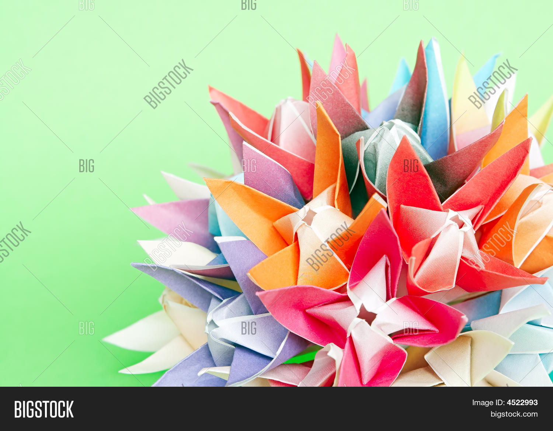 Origami Flower Ball Image Photo Bigstock