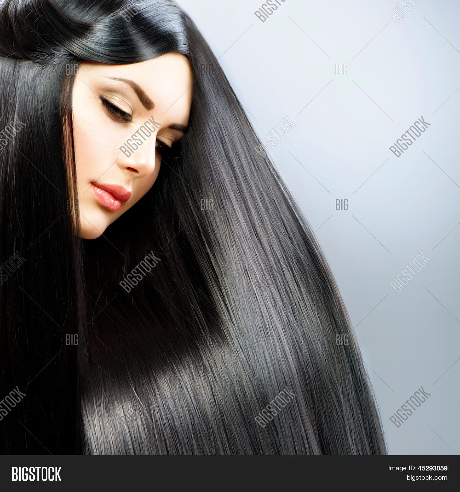 Bild und Foto Haare Lange Glatte Haare Schöne