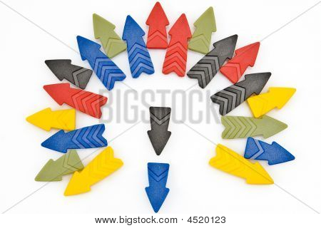 Colorful Arrows In An Open Circle