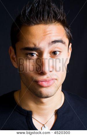 Incredulous Funny Man With Eyebrow Raised