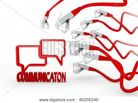 communication symbol attacked by a cyber network