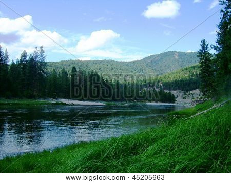 The Clark Fork River in Western Montana