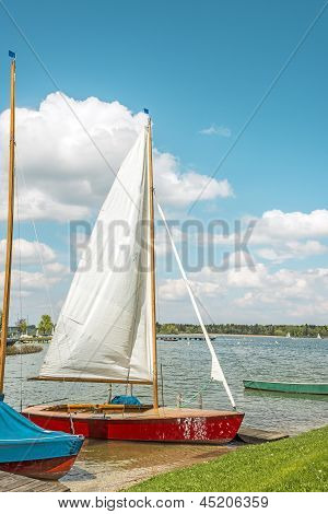 Red Sport Sailboat