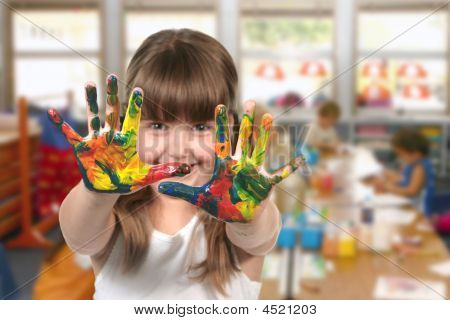 Classroom Painting In Kindergarten